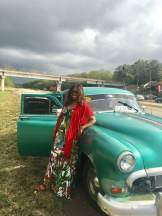 On route to Havana in a 1953 Pontiac