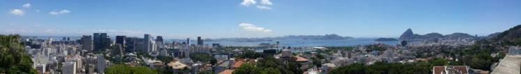 Panoramic view from the art gallery at Santa Teresa