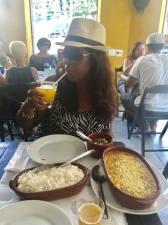 Passion fruit Caiprinha and delicious Bobo de Camarao at Portella Bar